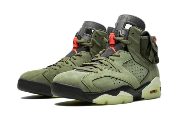 Nike Air Jordan 6 Travis Scott зеленые (40-45)