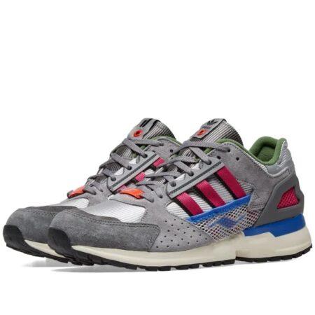 Разноцветные замшевые кроссовки