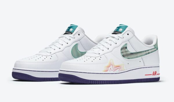 Nike Air Force 1 Music DeAaron белые кожаные мужские (40-44)
