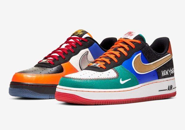 Nike Air Force 1 New York разноцветные кожа-нубук мужские-женские (39-43)