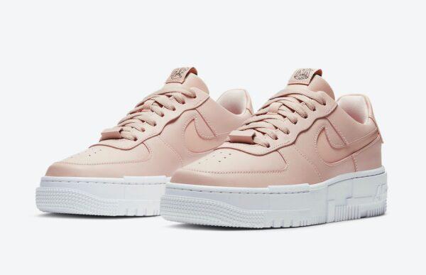 Nike Air Force 1 Low Pixel Triple бежевые кожаные женские (35-39)