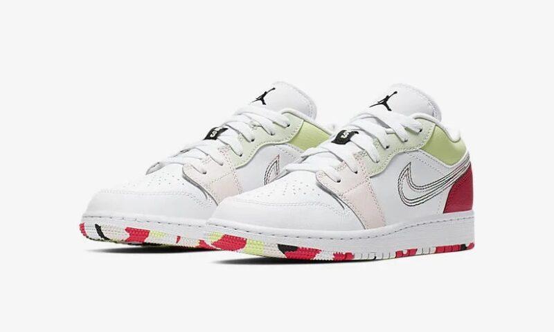 Nike Air Jordan 1 Low GS белые с розовым (35-39)