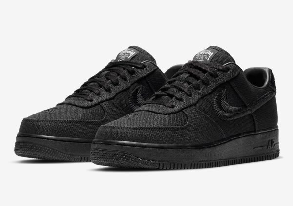 Stussy x Nike Air Force 1 Low черные (40-44)